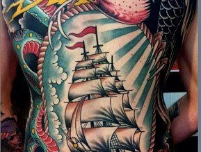 The Battleship tattoo.