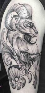 Capricorn Zodiac Tattoo Design A Symbol Of Will And