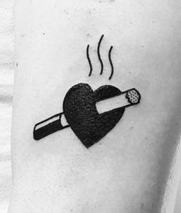 Cigarettecigar Tattoo Designs Daring Forbidden Behavior