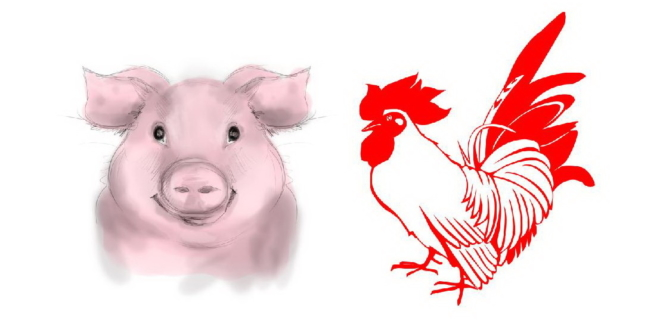 Pig And Rooster
